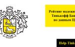 Рейтинг надежности Тинькофф Банка в 2019 году: данные ЦБ среди банков РФ