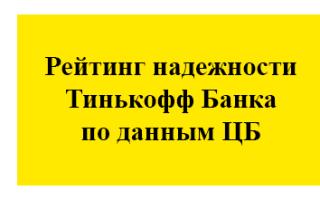 Рейтинг надежности Тинькофф Банка в 2021 году: данные ЦБ среди банков РФ